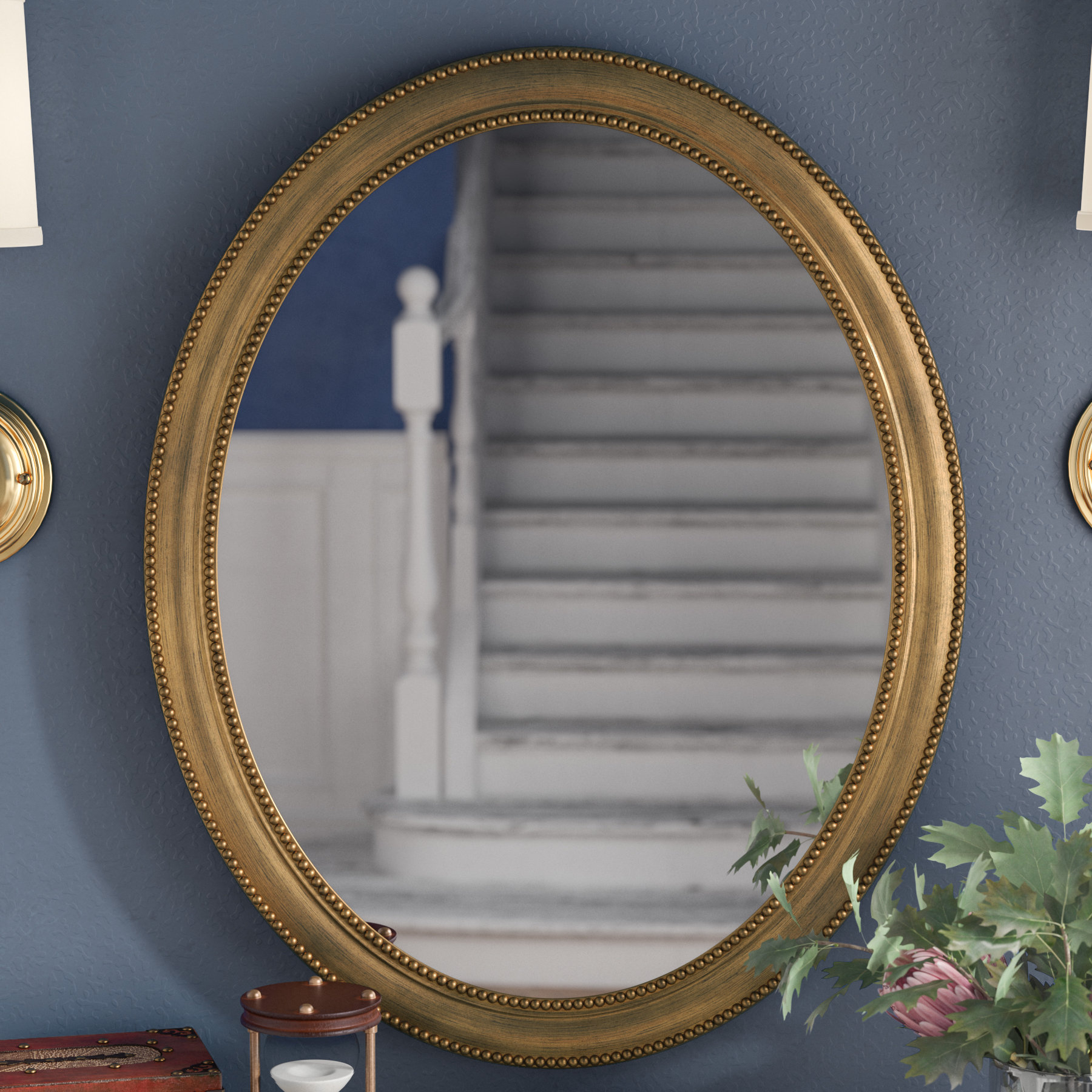 """Alcott Hill 30"""" Oval Accent Mirror & Reviews 