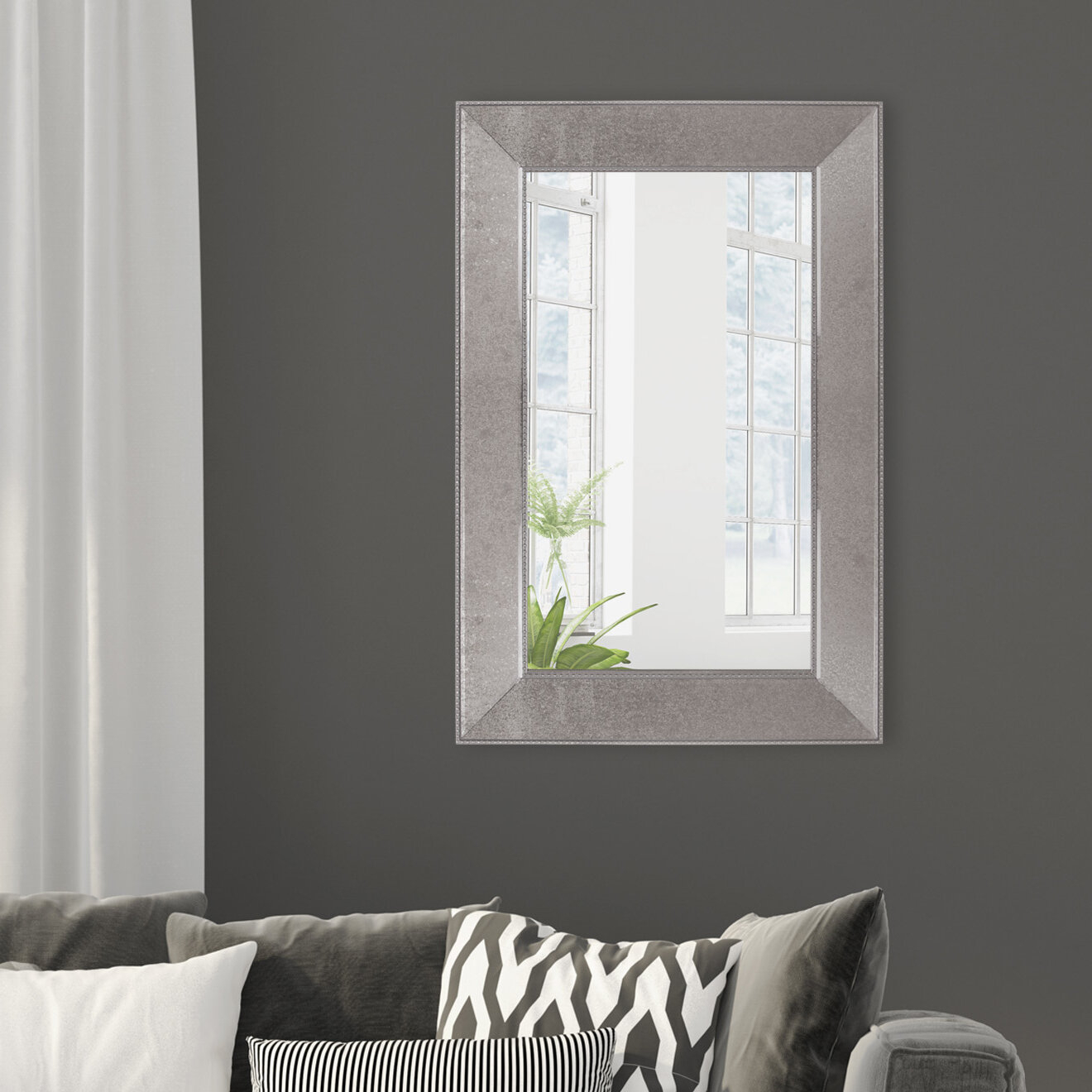 Alcott Hill Calgary Beaded Framed Wall Accent Mirror | Wayfair Intended For Beaded Accent Wall Mirrors (View 19 of 20)