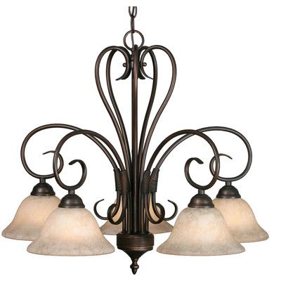 Alcott Hill Gaines 5 Light Shaded Chandelier | Products Intended For Gaines 5 Light Shaded Chandeliers (View 3 of 20)