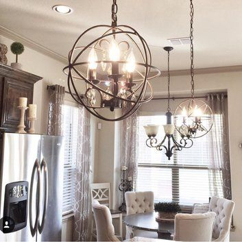 Alden 3 Light Globe Chandelier   Home Decor In 2019 In Alden 6 Light Globe Chandeliers (View 8 of 20)