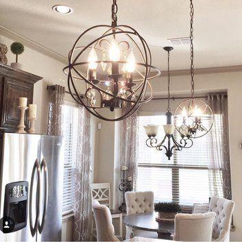 Alden 3 Light Globe Chandelier In 2019 | Home Dec | Kitchen Intended For Alden 3 Light Single Globe Pendants (View 12 of 20)