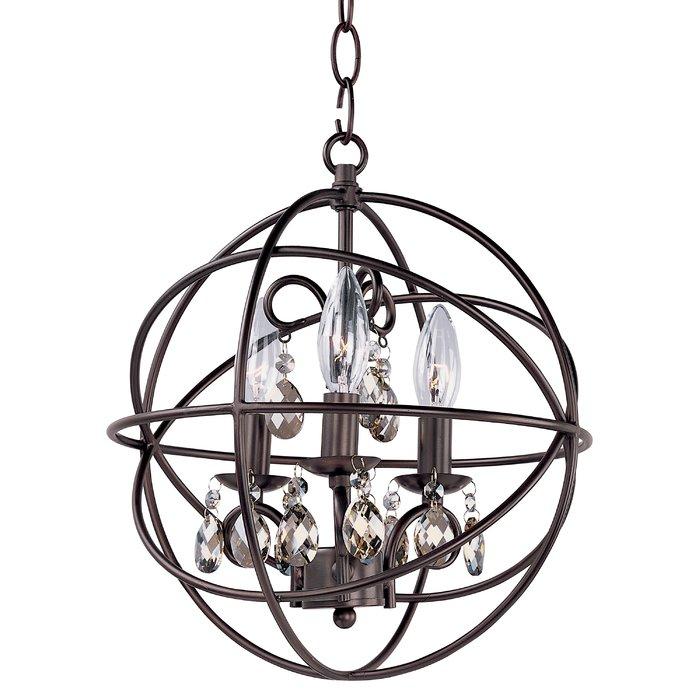 Alden 3 Light Single Globe Pendant For Alden 3 Light Single Globe Pendants (View 2 of 20)