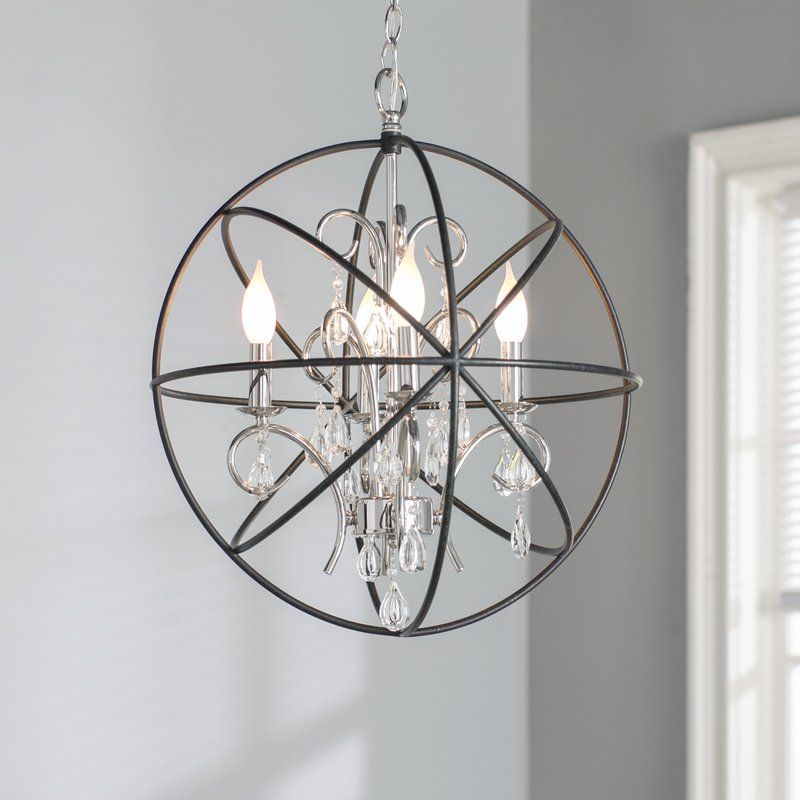 Alden 4 Light Globe Chandelier In 2019 | Ward Family With Alden 6 Light Globe Chandeliers (View 17 of 20)
