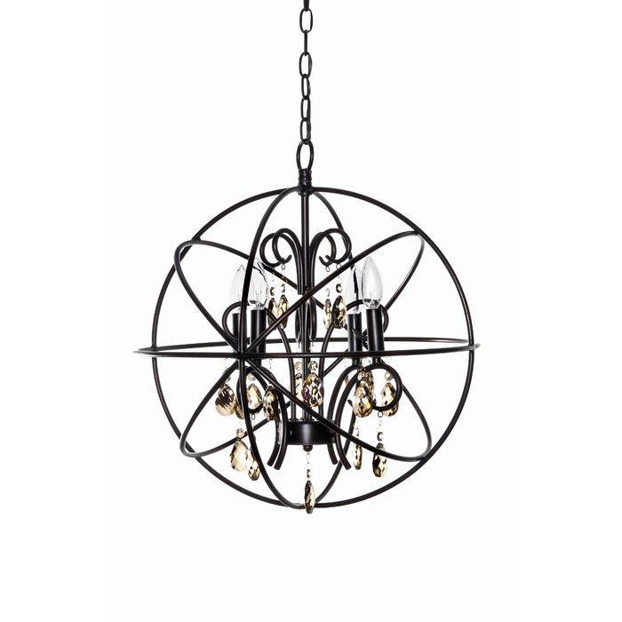 Alden 4 Light Globe Chandelier Pertaining To Alden 3 Light Single Globe Pendants (View 6 of 20)
