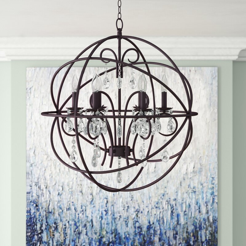 Alden 6 Light Globe Chandelier Intended For Alden 6 Light Globe Chandeliers (View 5 of 20)