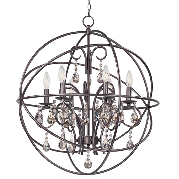 Alden 6 Light Globe Chandelier Regarding Alden 6 Light Globe Chandeliers (View 1 of 20)