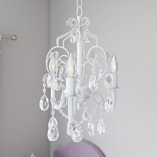 Aldora 3 Light Candle Style Chandelier In 2019 | Girls New Throughout Aldora 4 Light Candle Style Chandeliers (View 10 of 20)