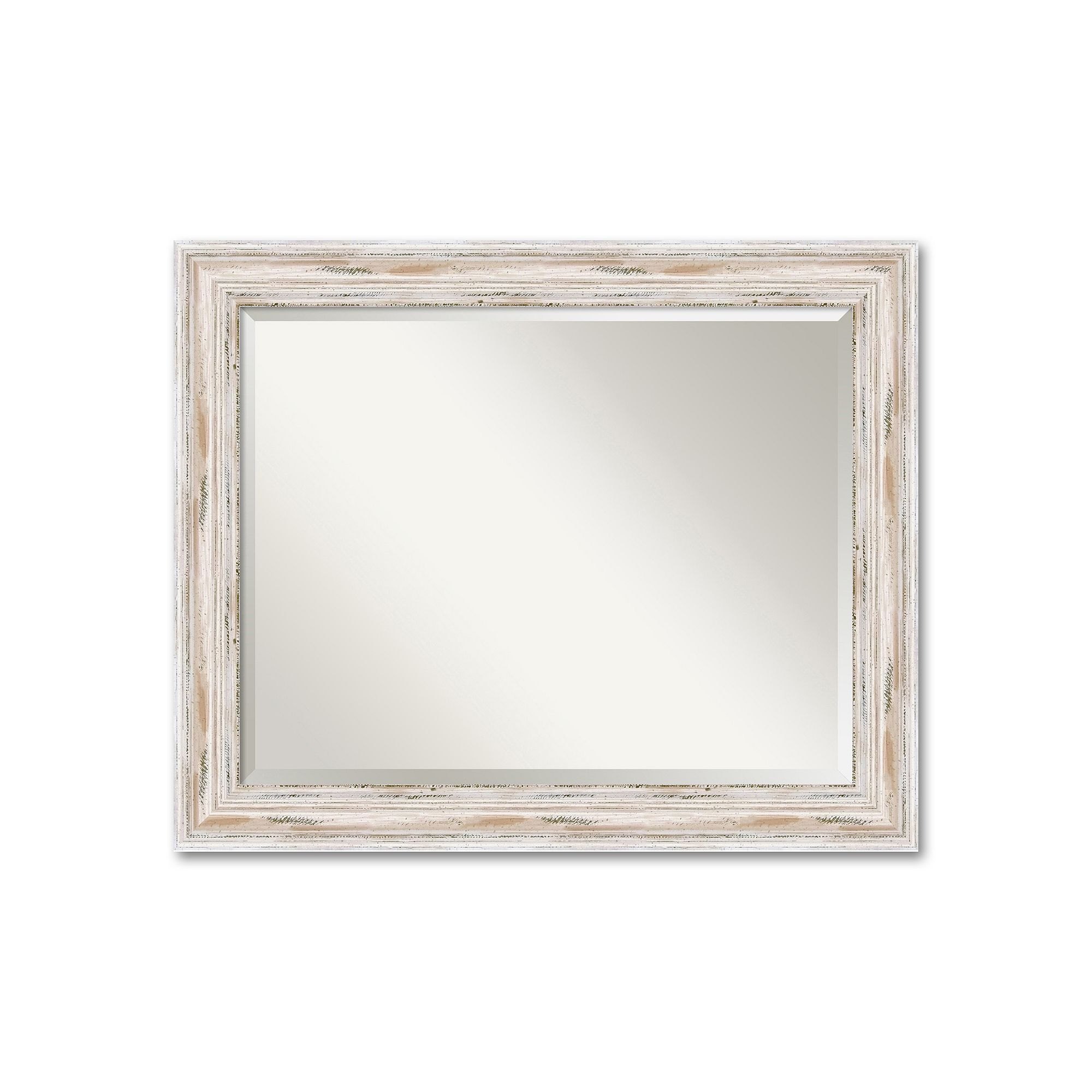 Alexandria Large Whitewash Distressed Wood Wall Mirror In Epinal Shabby Elegance Wall Mirrors (View 7 of 20)