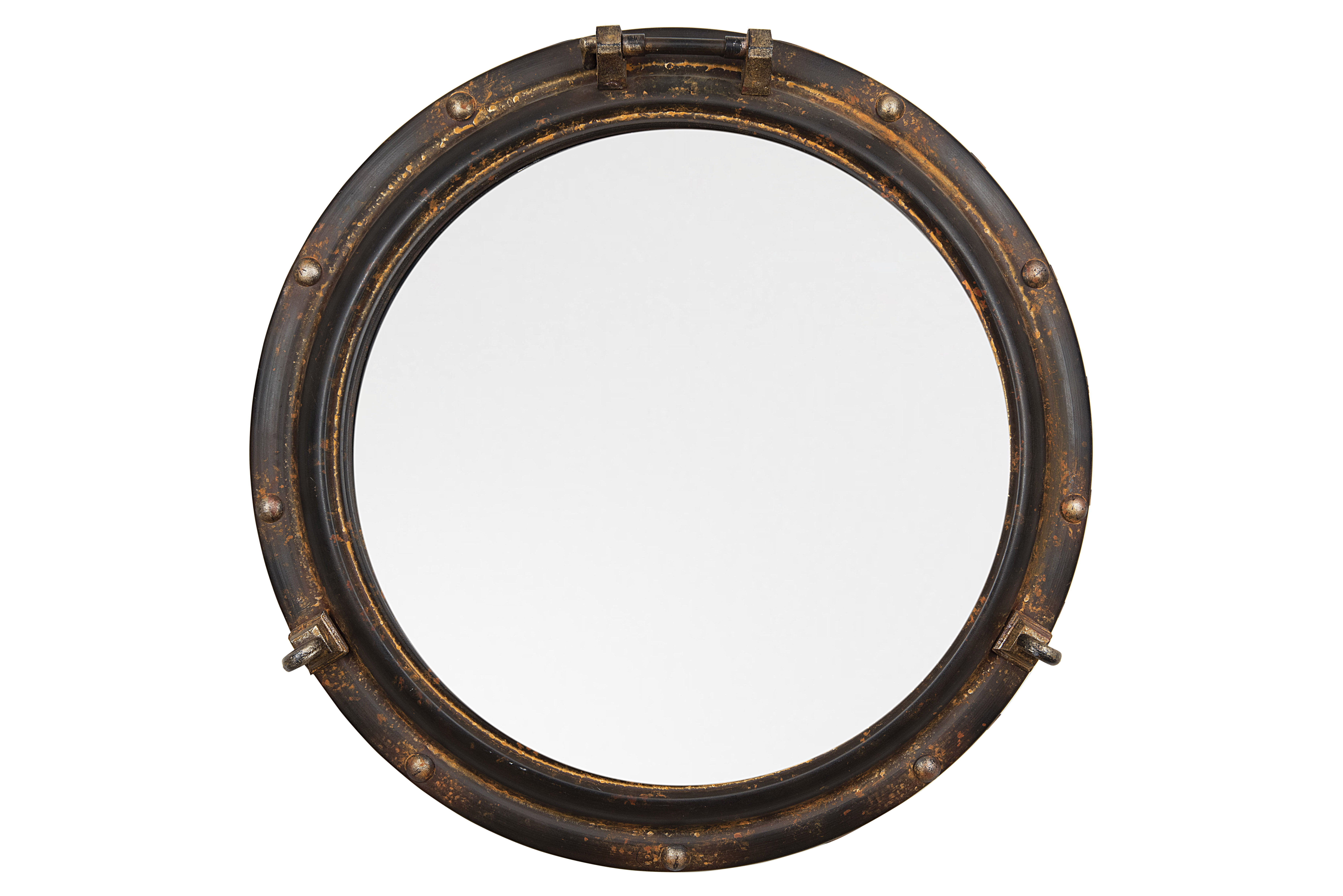 Alie Traditional Beveled Distressed Accent Mirror In Alie Traditional Beveled Distressed Accent Mirrors (Image 4 of 20)