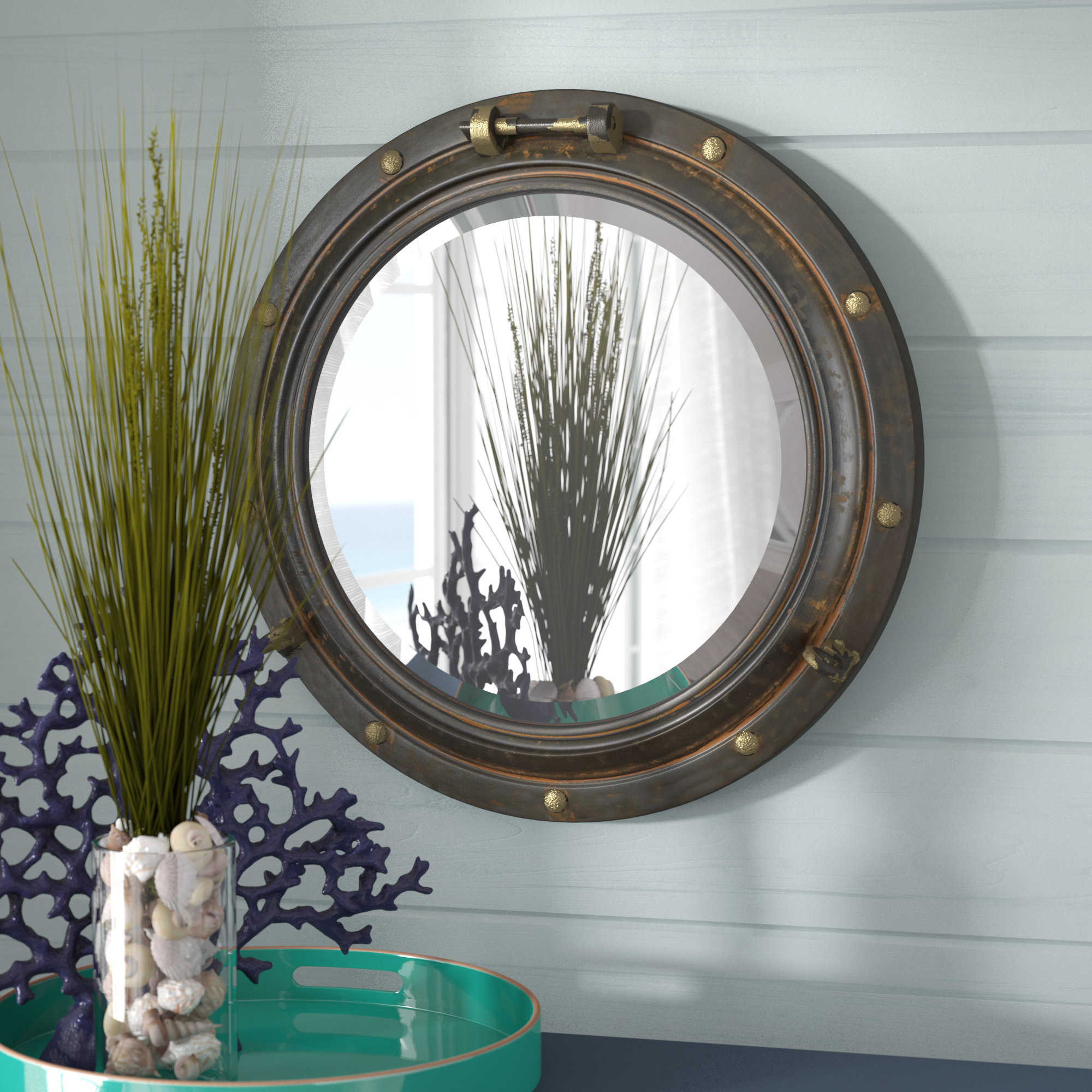 Featured Image of Alie Traditional Beveled Distressed Accent Mirrors