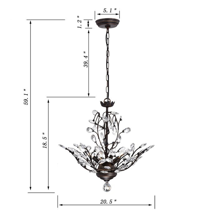 Alijah 4 Light Led Candle Style Chandelier In Hesse 5 Light Candle Style Chandeliers (Image 3 of 20)