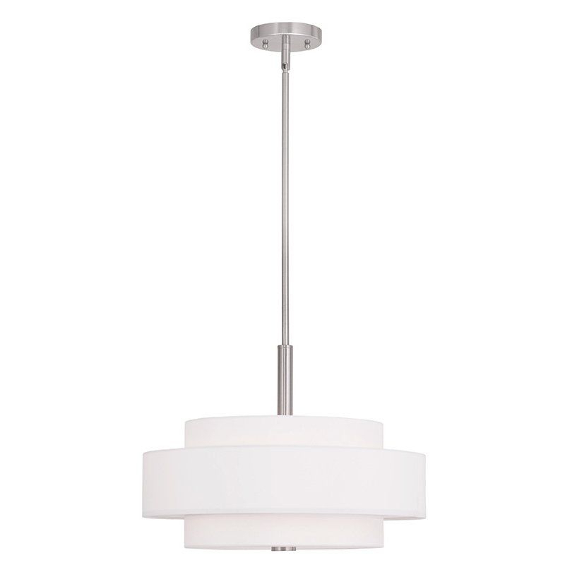 Alina 4 Light Drum Chandelier | Kitchen Lights | Livex Regarding Alina 5 Light Drum Chandeliers (View 11 of 20)