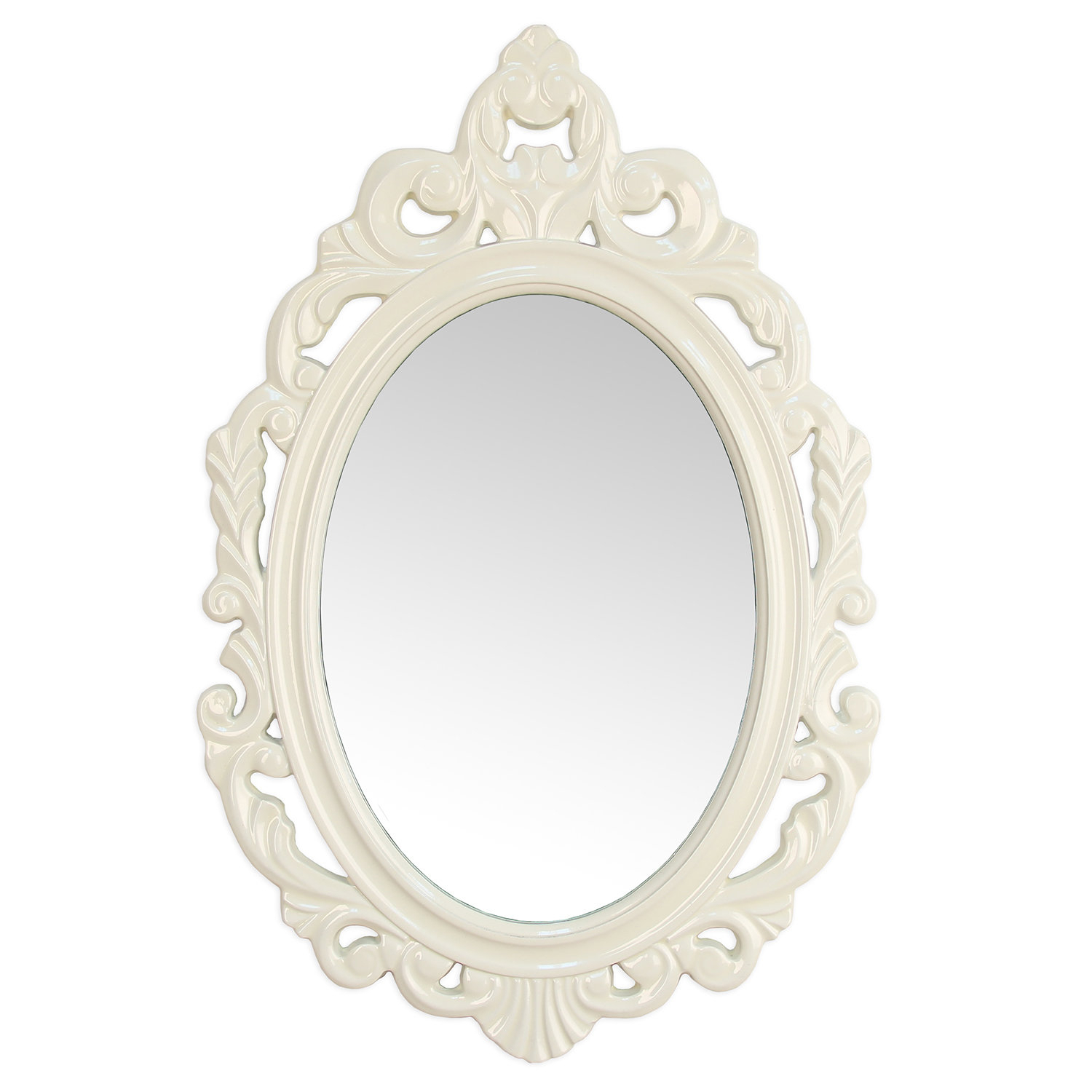Alissa Traditional Wall Mirror With Regard To Burnes Oval Traditional Wall Mirrors (Image 2 of 20)