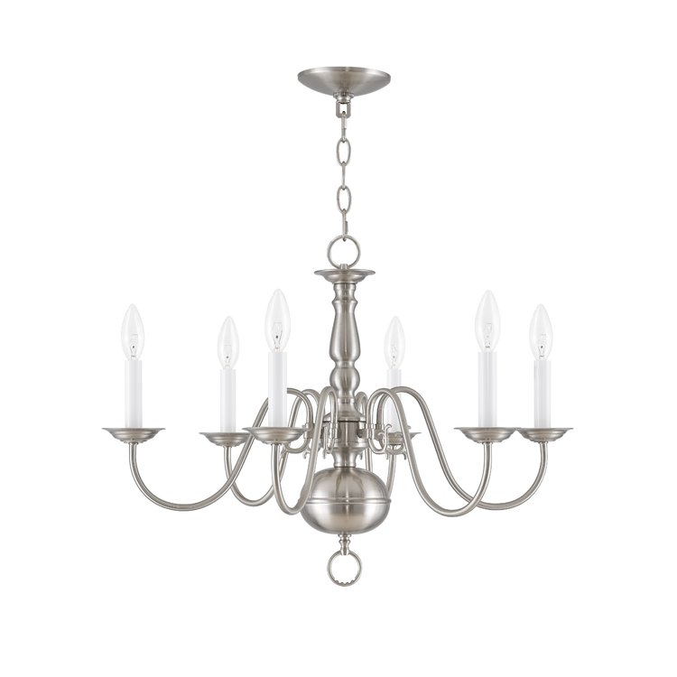 Allensby 6 Light Chandelier | Joss & Main In Berger 5 Light Candle Style Chandeliers (View 20 of 20)