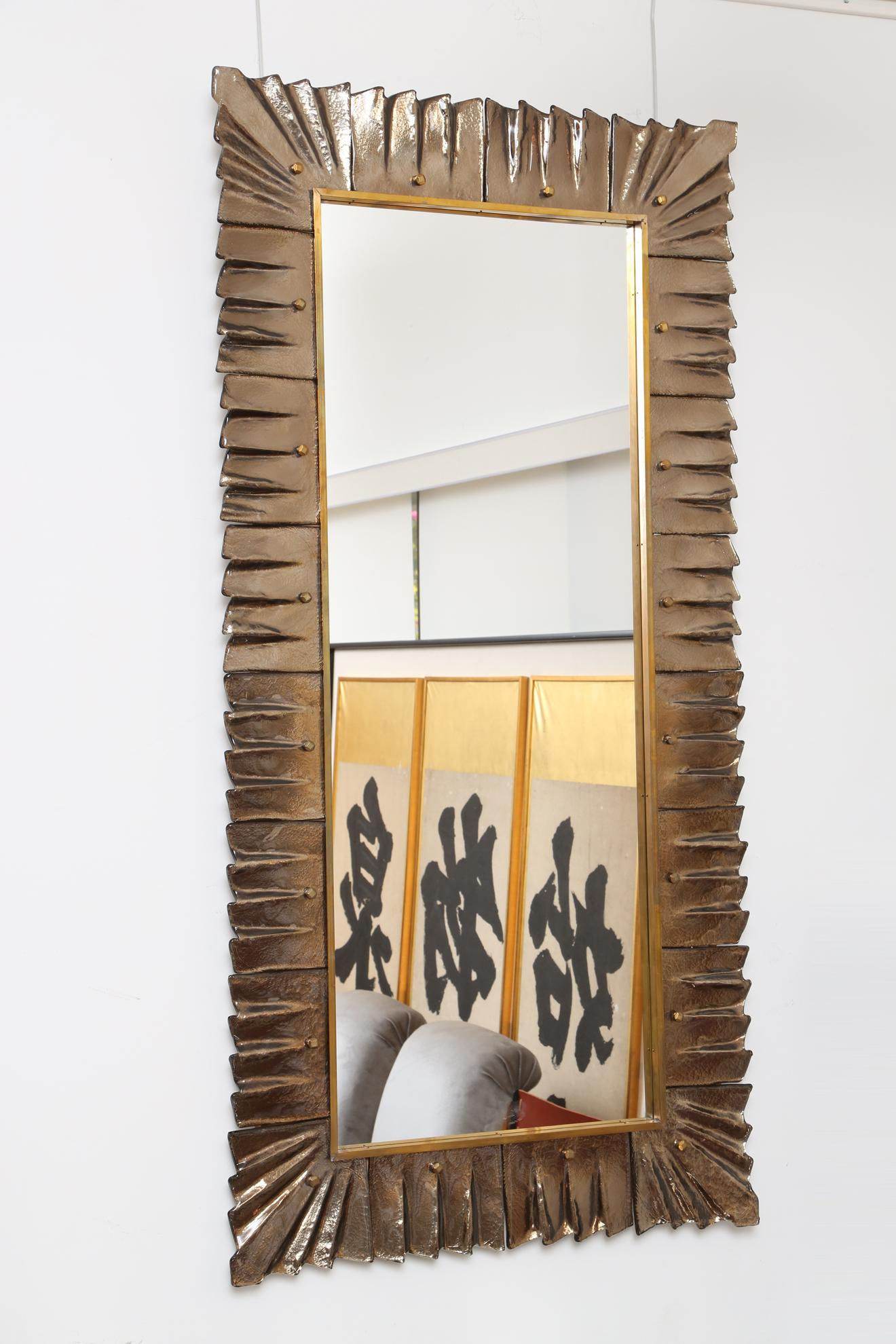 Alluring Large Modern Mirrors Album Unblocked Niall Justin Within Hogge Modern Brushed Nickel Large Frame Wall Mirrors (Image 2 of 20)