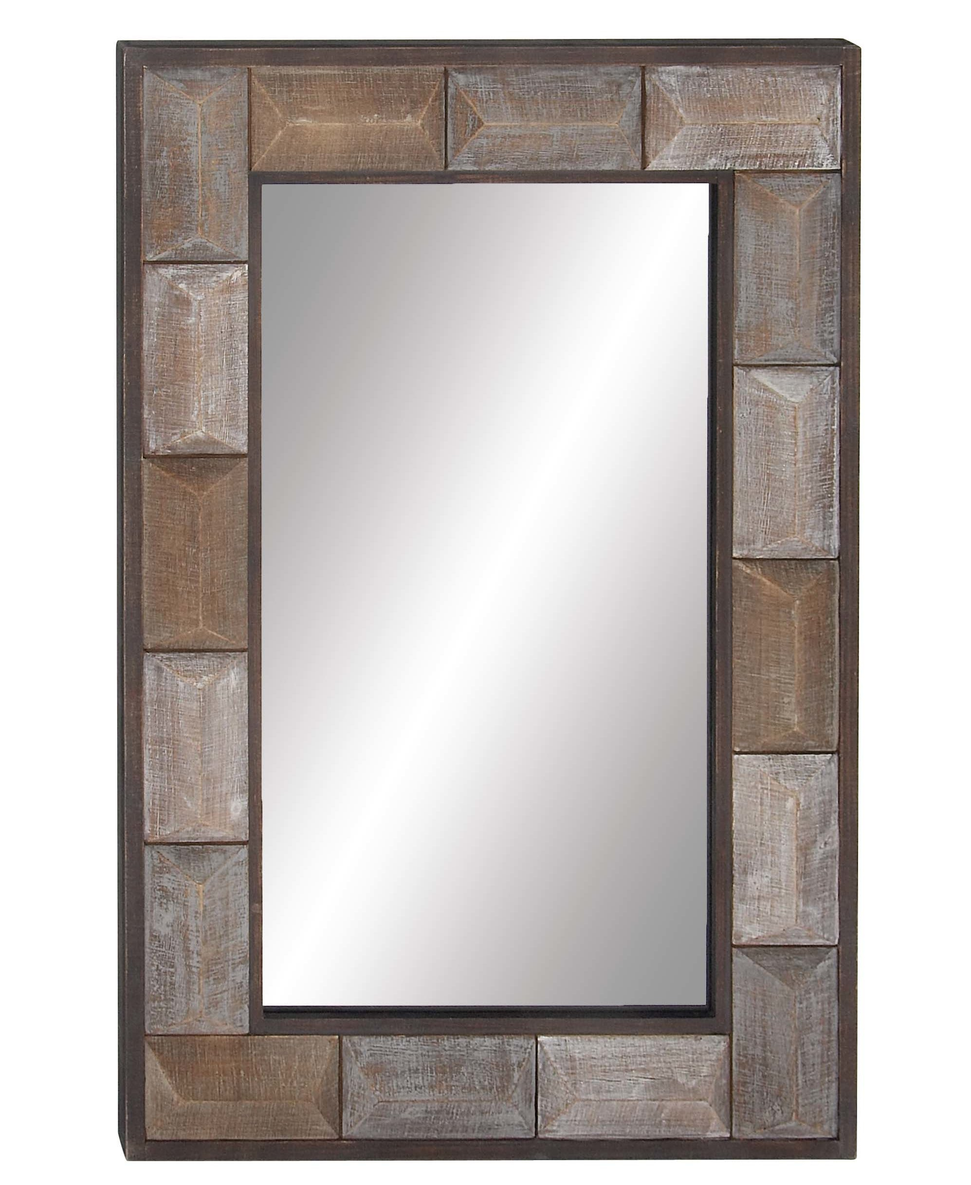 Aloysius Rustic Accent Mirror Throughout Berinhard Accent Mirrors (View 13 of 20)