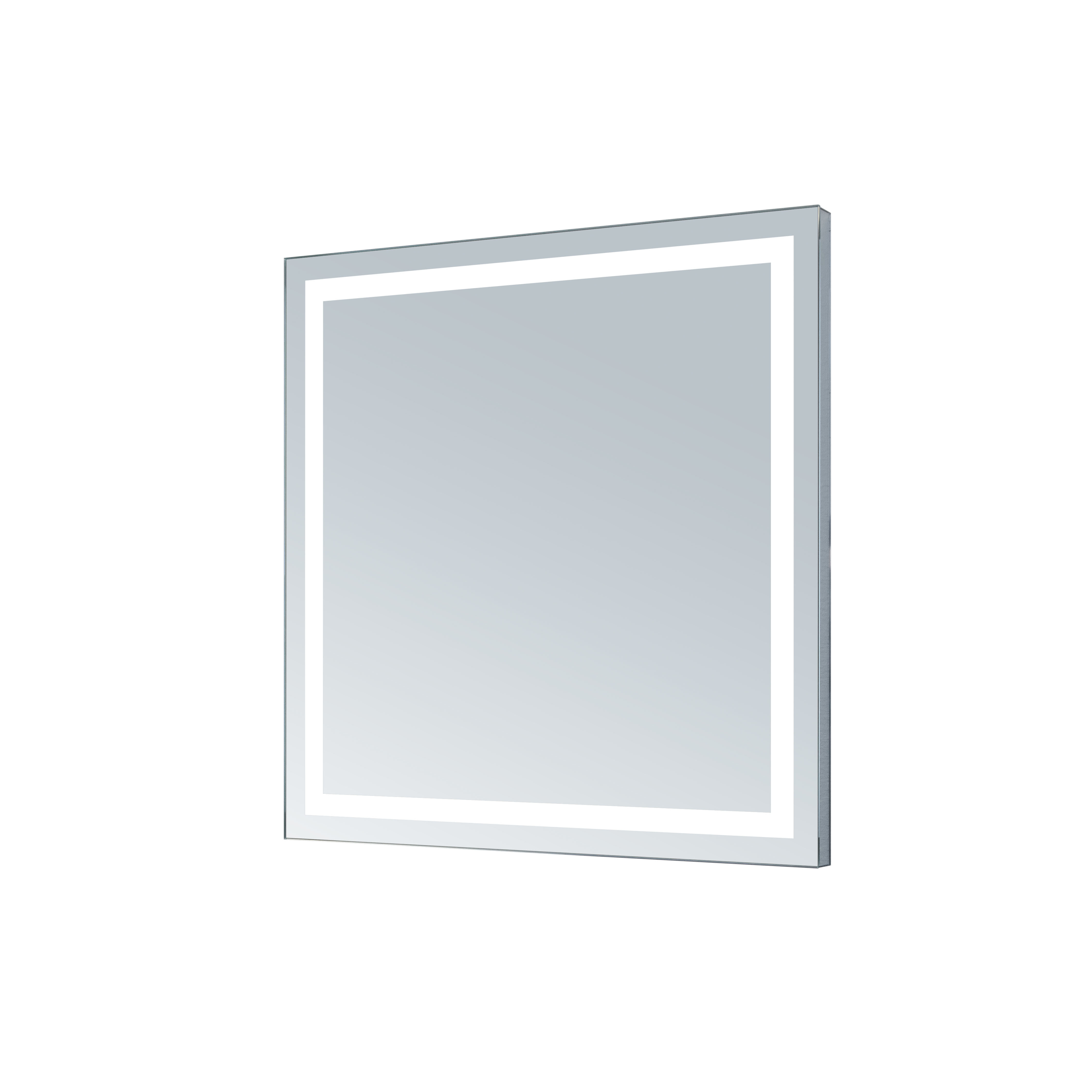 Aluminum Frame Electric Wall Mirror Within Tetbury Frameless Tri Bevel Wall Mirrors (Image 2 of 20)
