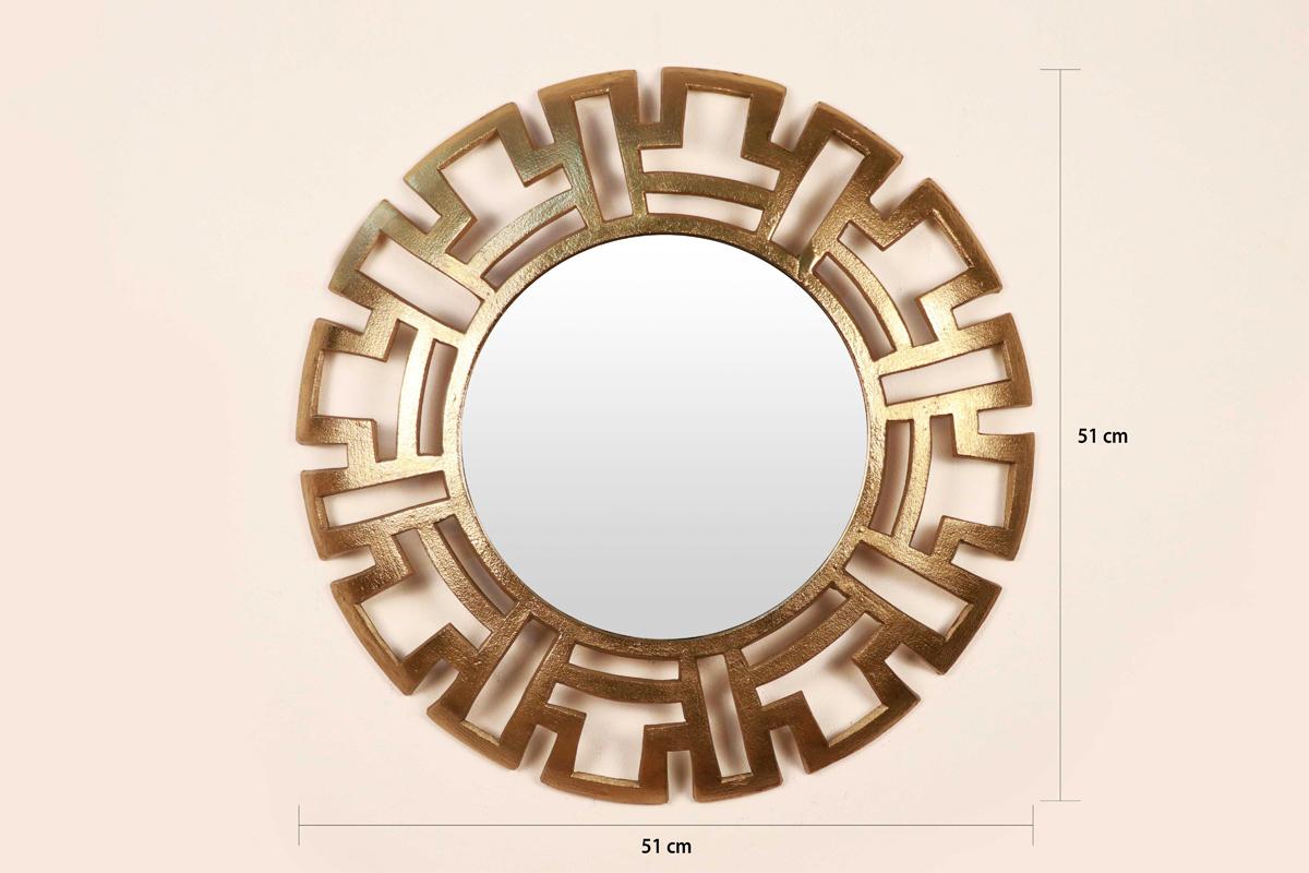Aluminum Round Wall Decorative Mirrorcocovey Intended For Decorative Round Wall Mirrors (Image 2 of 20)