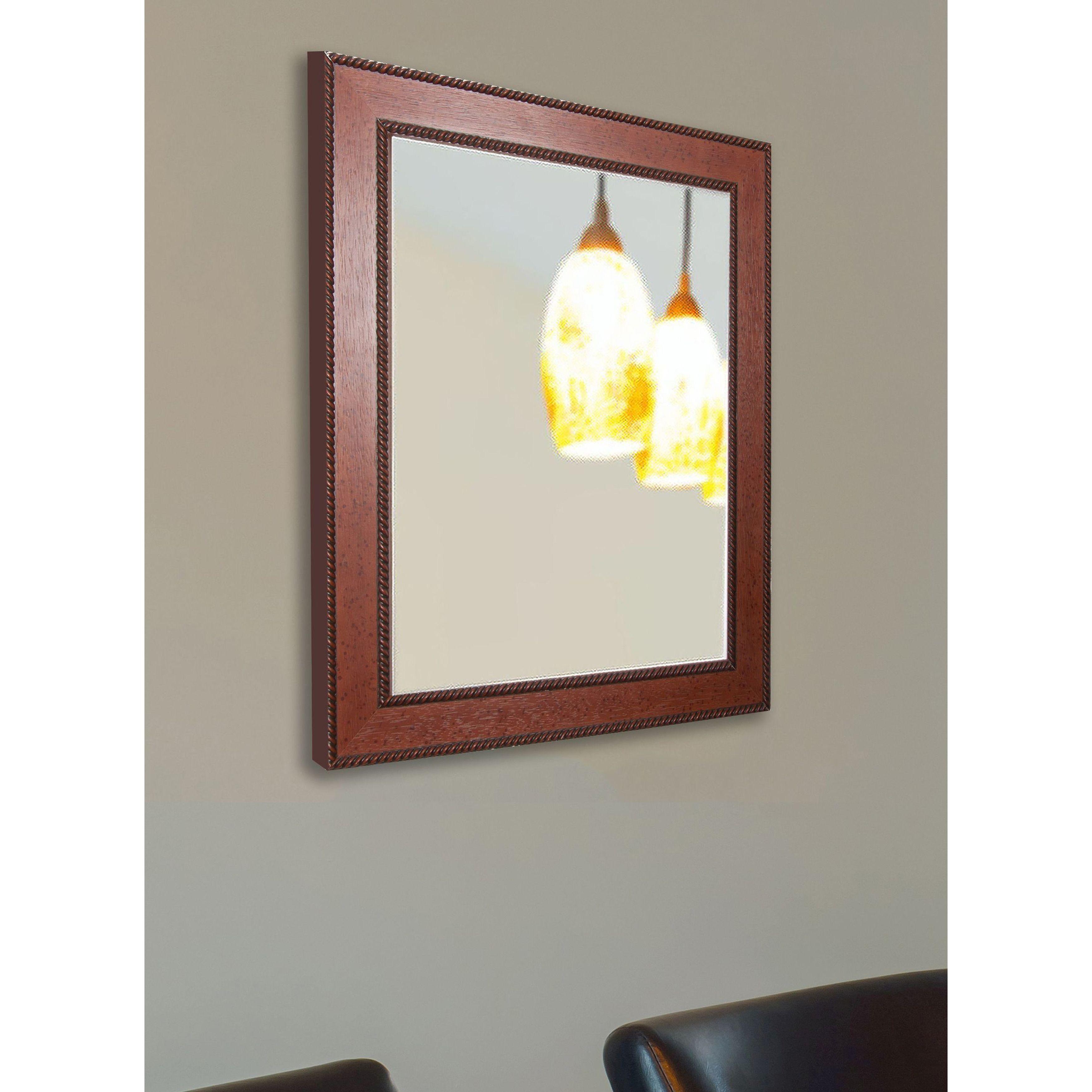 American Made Rayne Western Rope Vanity Wall Mirror (29 X 39 For American Made Accent Wall Mirrors (View 5 of 20)