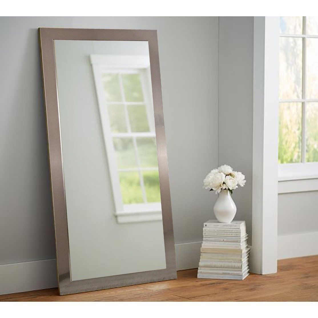 American Value Nickel Finished 32 X 65.5 Inch Tall Vanity Regarding Dalessio Wide Tall Full Length Mirrors (Photo 18 of 20)