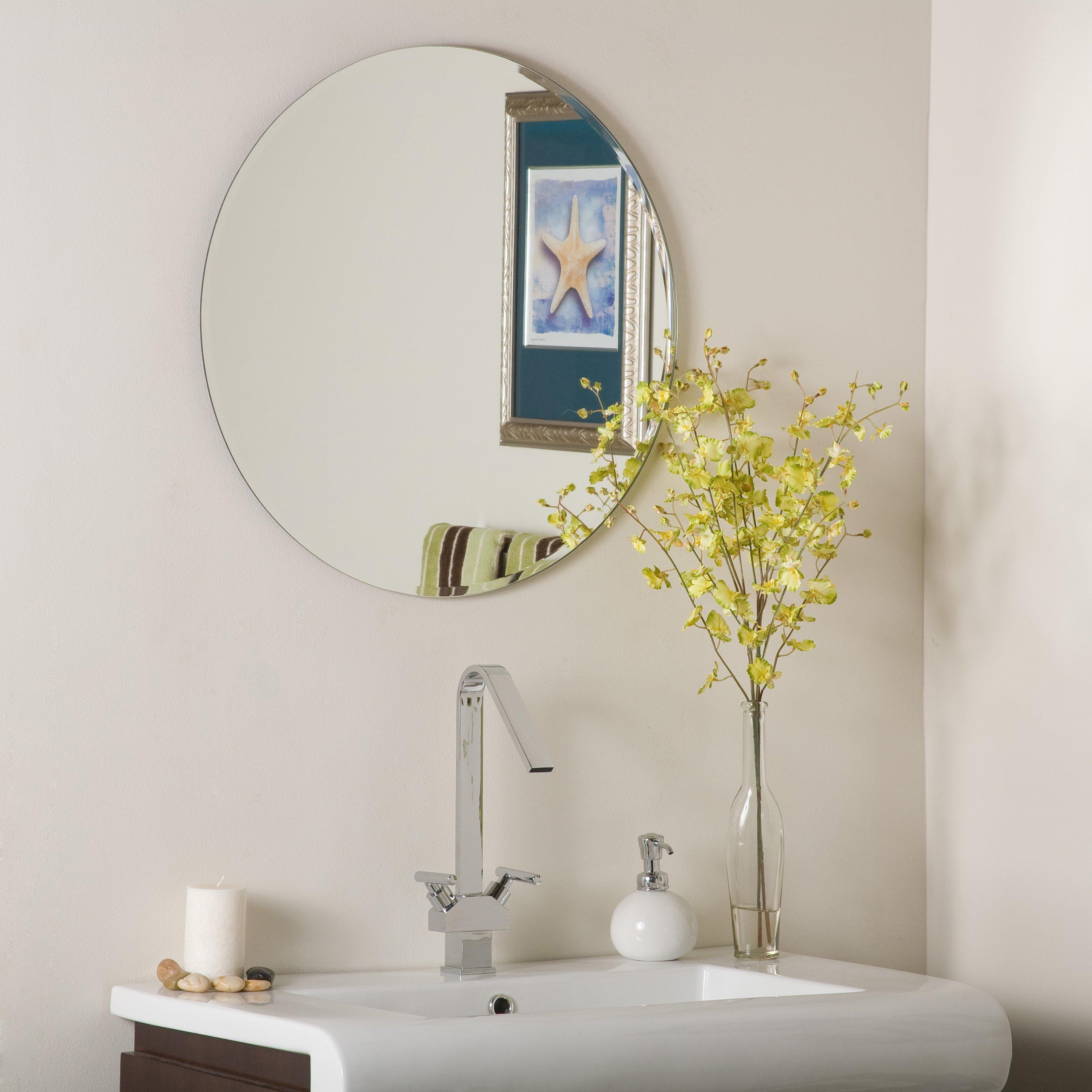 Amusing Frameless Wall Mirror Home Depot Argos Gym Pivoting Regarding Wallingford Large Frameless Wall Mirrors (Image 3 of 20)