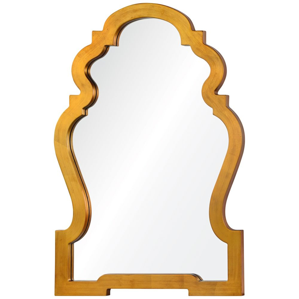 "Anderson Gold 26"" X 38"" Vertical Wall Mirror – Style # 9W149 Within Arch Vertical Wall Mirrors (Image 2 of 20)"