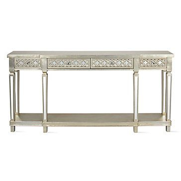 Anderson Mirrored Console Tablez Gallerie | Current Home Within Mishie Contemporary Champagne 2 Piece Accent Tables Set By Foa (View 19 of 25)