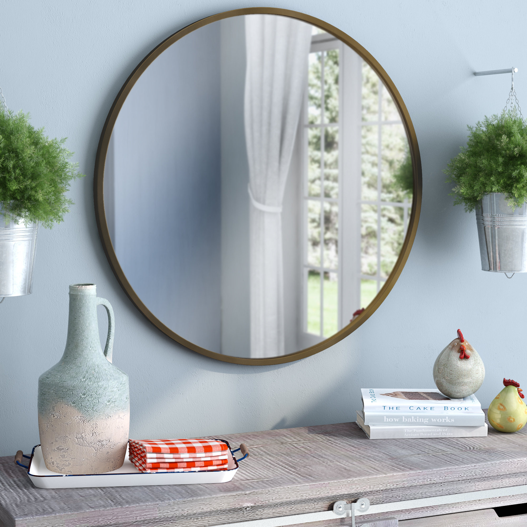 Angie Round Modern & Contemporary Accent Mirror Pertaining To Levan Modern & Contemporary Accent Mirrors (View 8 of 20)
