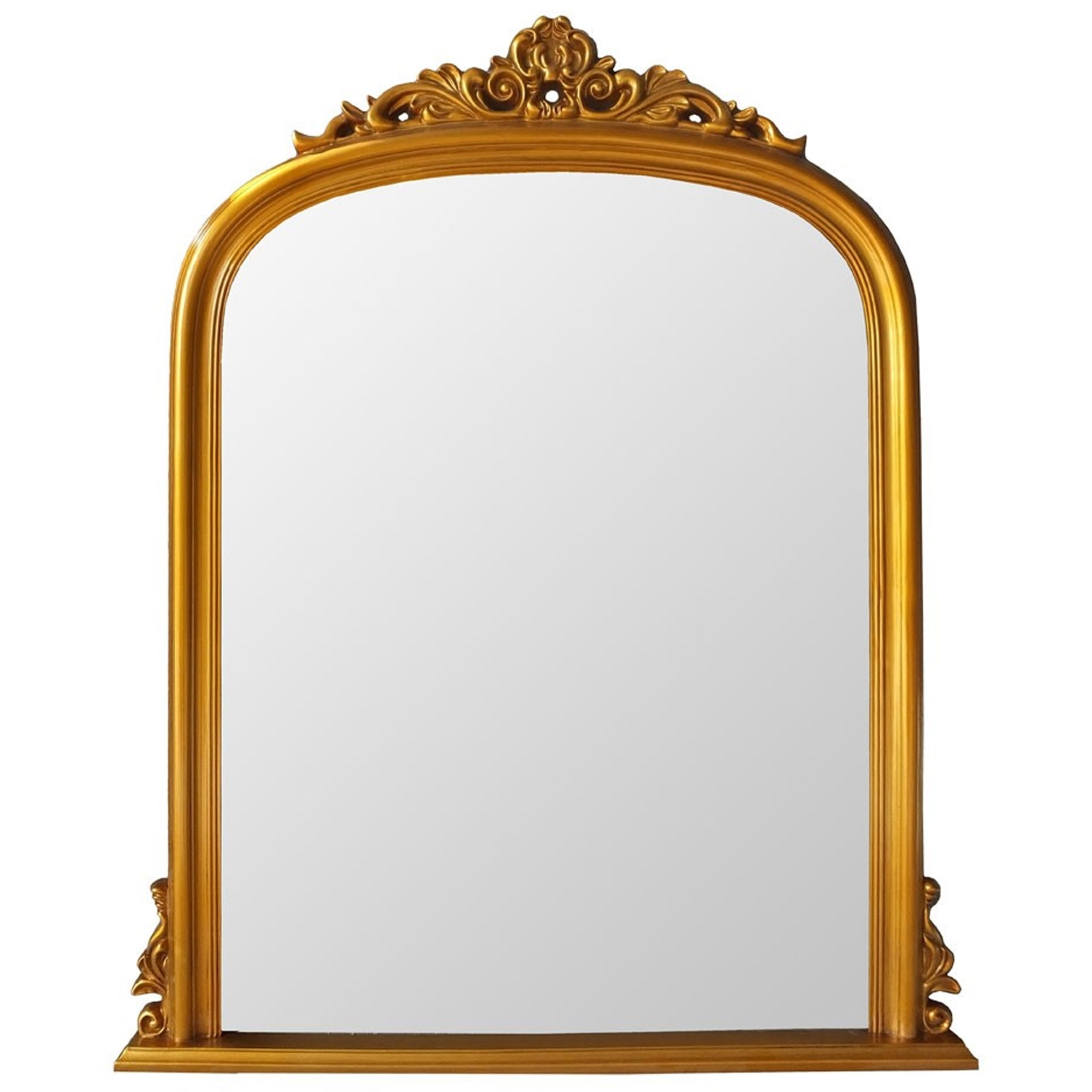 Antique French Style Gold Henrietta Wall Mirror Pertaining To Gold Arch Wall Mirrors (View 6 of 20)