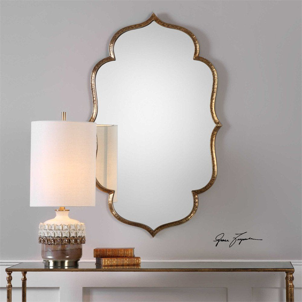 Antique Gold Moroccan Mirror   House Ideas   Moroccan Mirror For Padang Irregular Wood Framed Wall Mirrors (View 16 of 20)