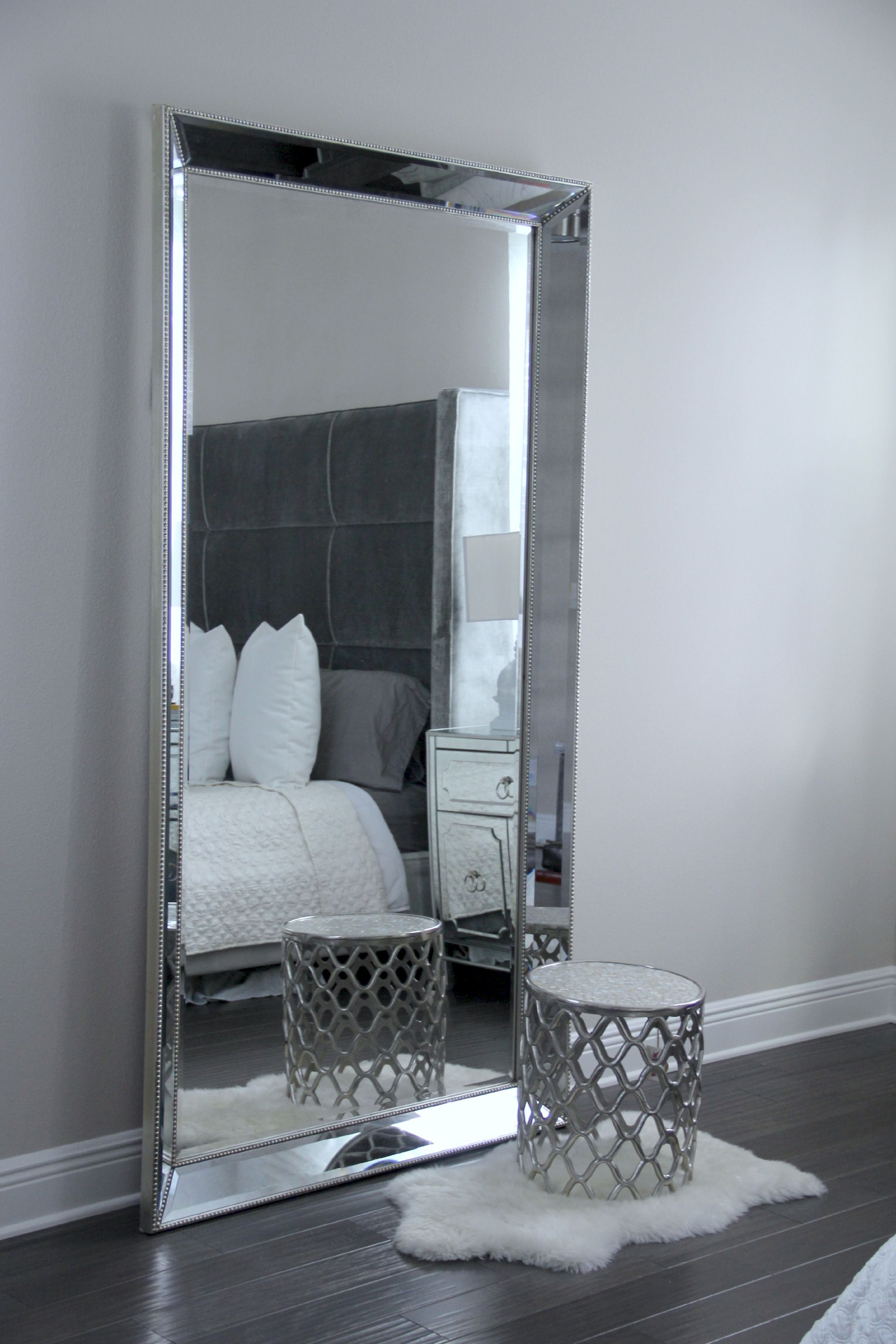 Antique Leaner Mirror For Your Room Decoration Ideas: Silver Intended For Leaning Mirrors (View 7 of 20)