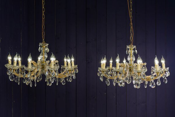 Antique Maria Theresa Style Crystal Chandelier Pertaining To Thresa 5 Light Shaded Chandeliers (View 16 of 20)