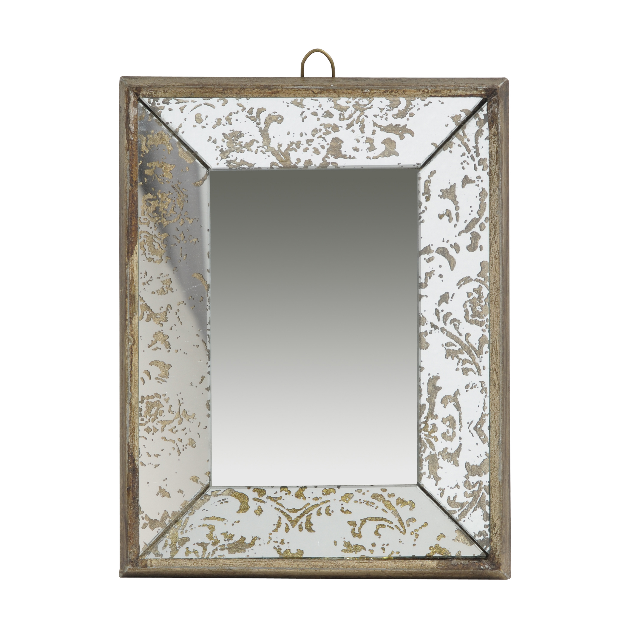 "Antique Style Frameless Wall Mirror Tray 12""x (Image 3 of 20)"