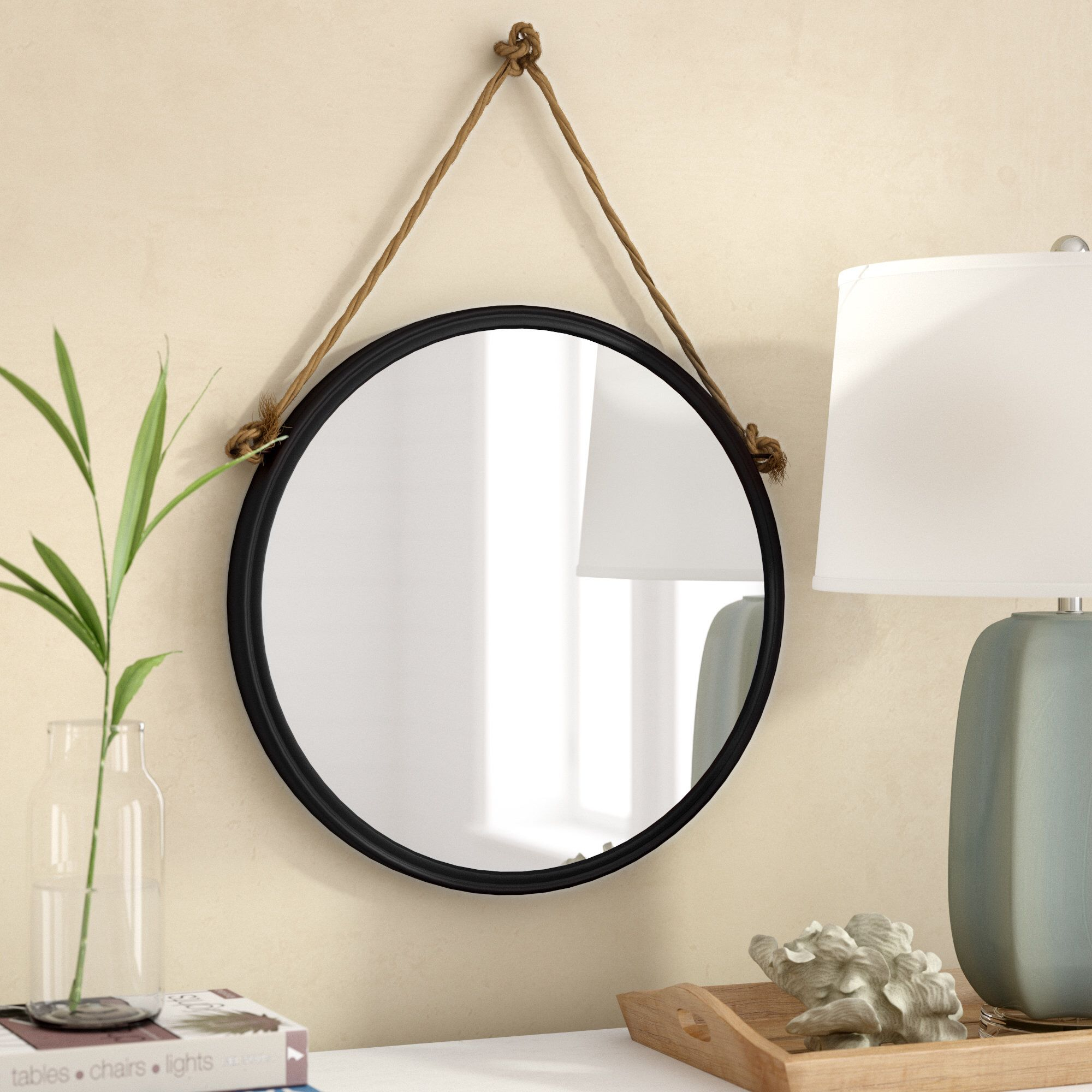Anupam Hanging Traditional Beveled Distressed Accent Mirror Pertaining To Rhein Accent Mirrors (View 8 of 20)