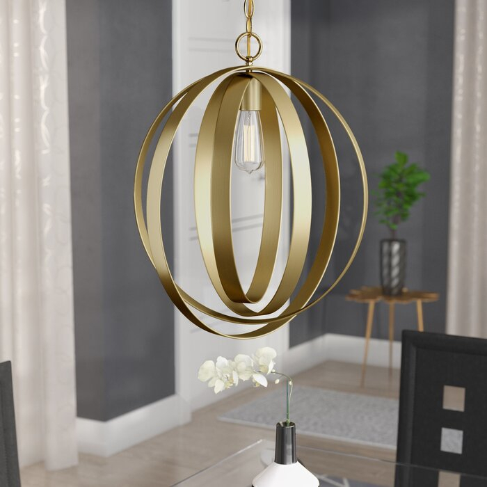 Arango 1 Light Led Globe Pendant With Regard To Kilby 1 Light Pendants (View 16 of 25)