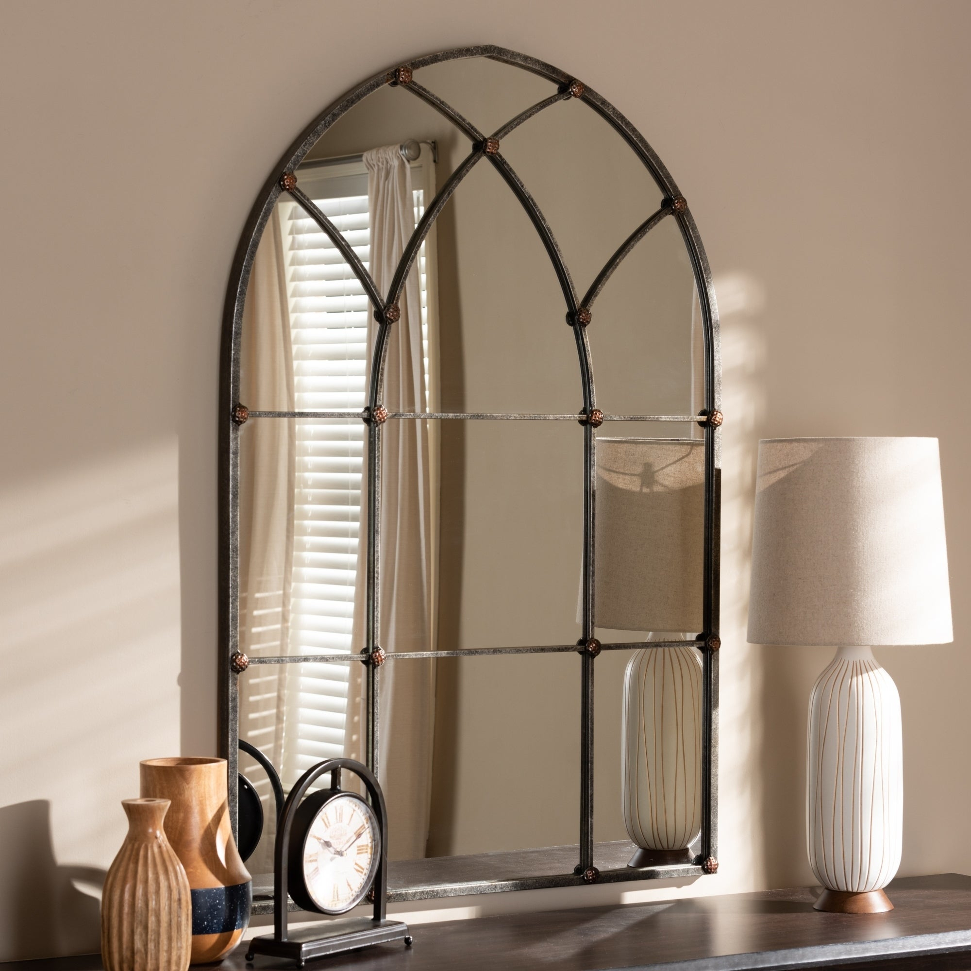 Arch Crowned Top Mirrors | Shop Online At Overstock Inside 2 Piece Kissena Window Pane Accent Mirror Sets (View 19 of 20)