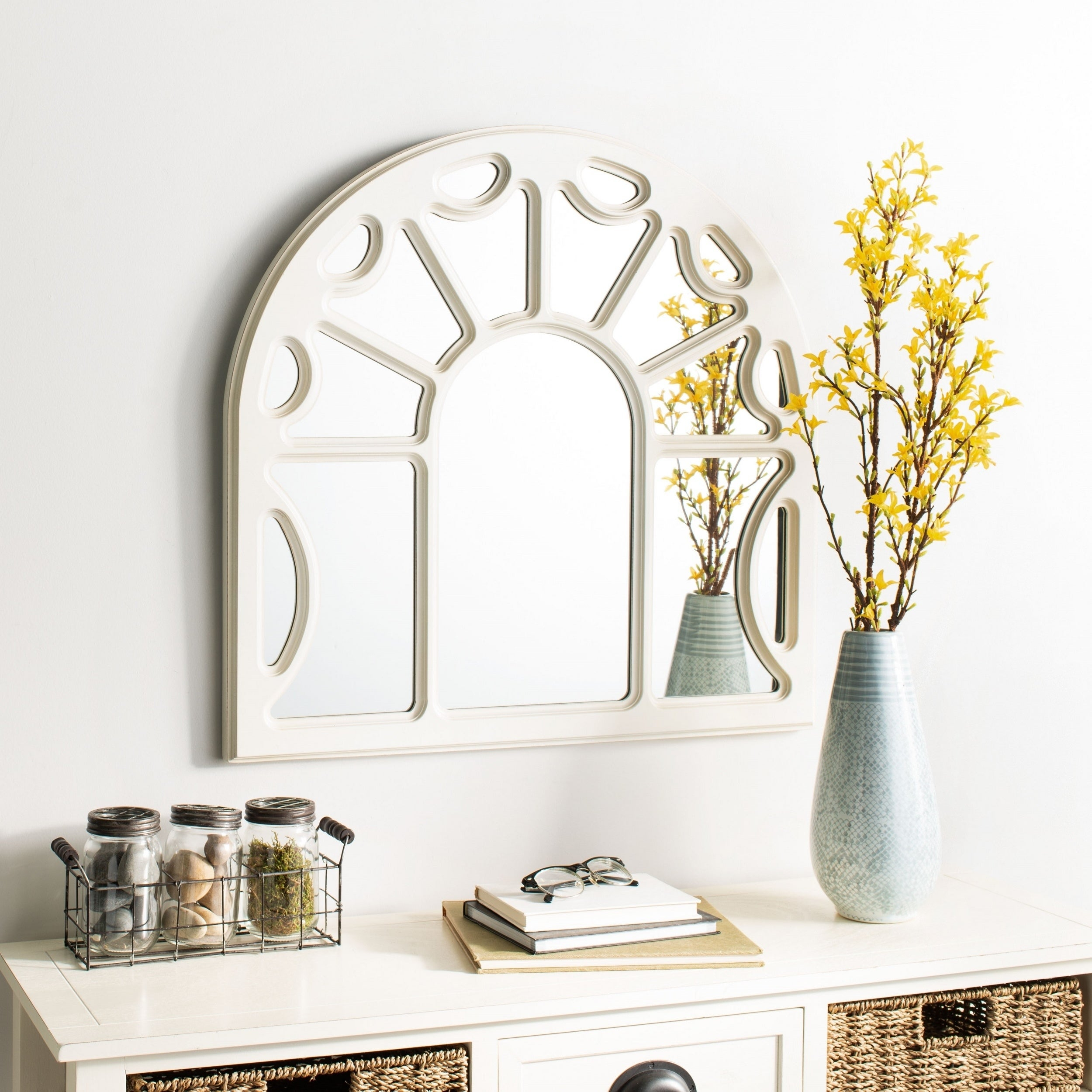 Arch Crowned Top, Wall Mirror | Shop Online At Overstock Inside Ekaterina Arch/crowned Top Wall Mirrors (Image 6 of 20)