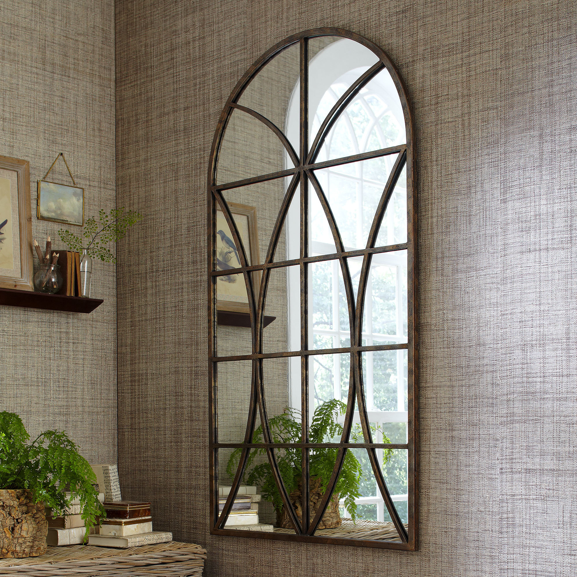 Arch / Crowned Top Wall Mirrors | Joss & Main For Arch Top Vertical Wall Mirrors (Image 3 of 20)