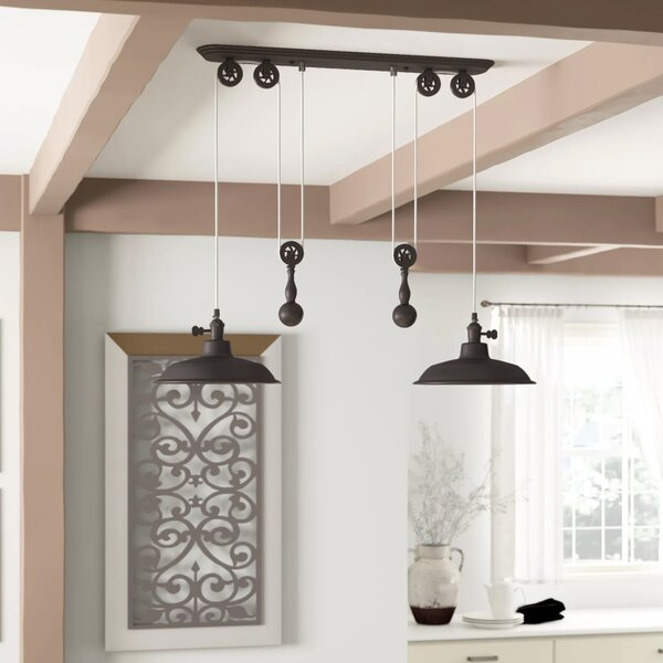 Ariel 2 Light Kitchen Island Dome Pendant With Ariel 2 Light Kitchen Island Dome Pendants (Image 10 of 25)