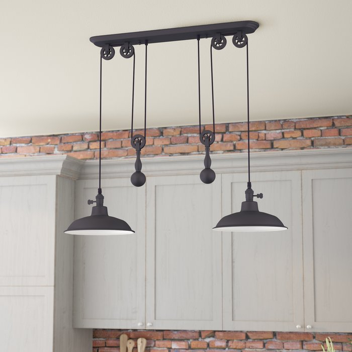 Ariel 2 Light Kitchen Island Dome Pendant With Ariel 3 Light Kitchen Island Dome Pendants (View 3 of 25)