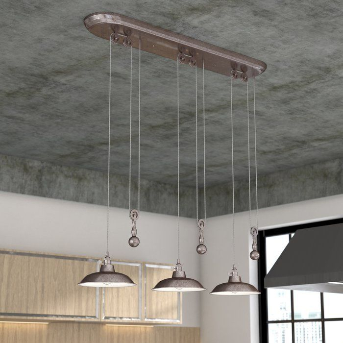 Ariel 3 Light Kitchen Island Dome Pendant In 2019 | Kitchen Regarding Ariel 2 Light Kitchen Island Dome Pendants (Image 13 of 25)