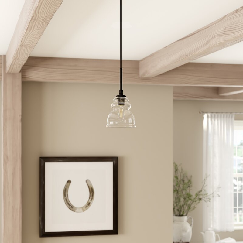 Arla 1 Light Single Bell Pendant For Yarger 1 Light Single Bell Pendants (View 9 of 25)