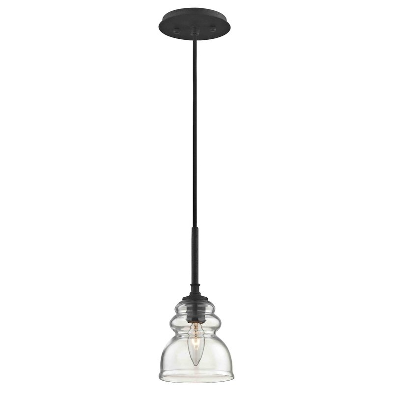 Arla 1 Light Single Bell Pendant Throughout Yarger 1 Light Single Bell Pendants (View 6 of 25)