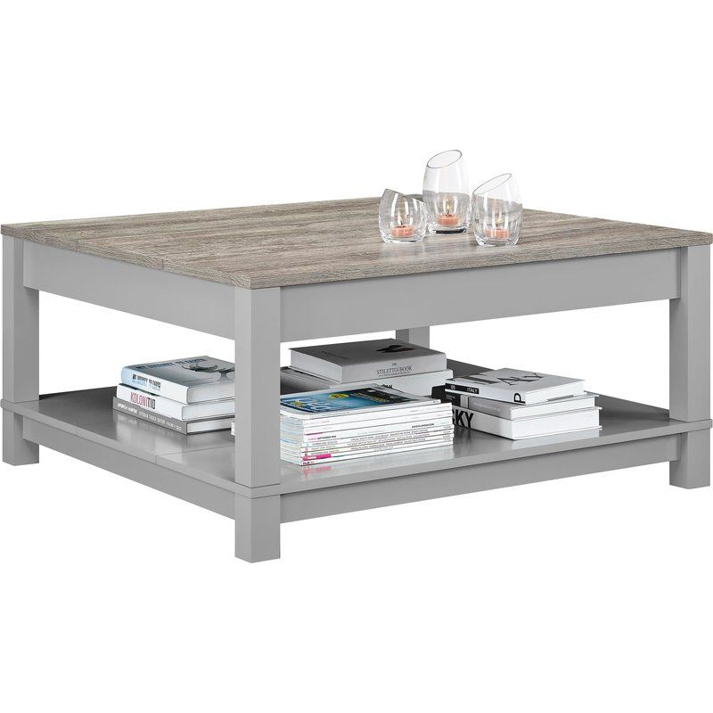 Arrange Framed Photos And Stacked Art Books On This In The Gray Barn O'quinn Weathered Bark And White Castered Cocktail Tables (View 13 of 25)