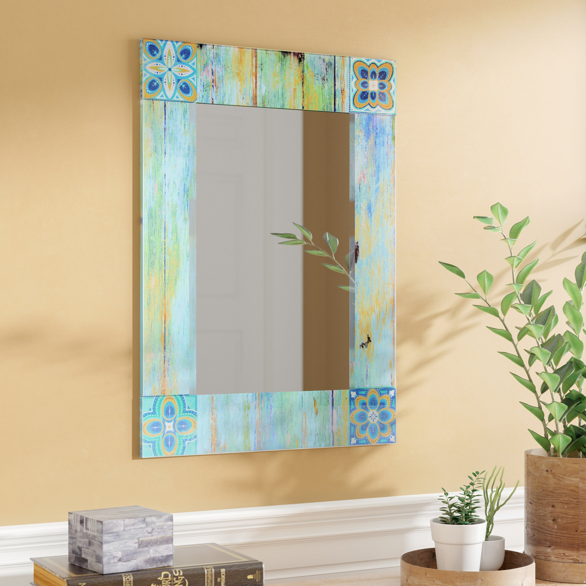 Arrigo Accent Mirror Inside Hussain Tile Accent Wall Mirrors (Image 2 of 20)