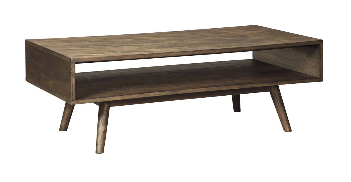 Ashley Furniture Kisper Rectangular Cocktail Table Regarding Solid Hardwood Rectangle Mid Century Modern Coffee Tables (View 8 of 50)