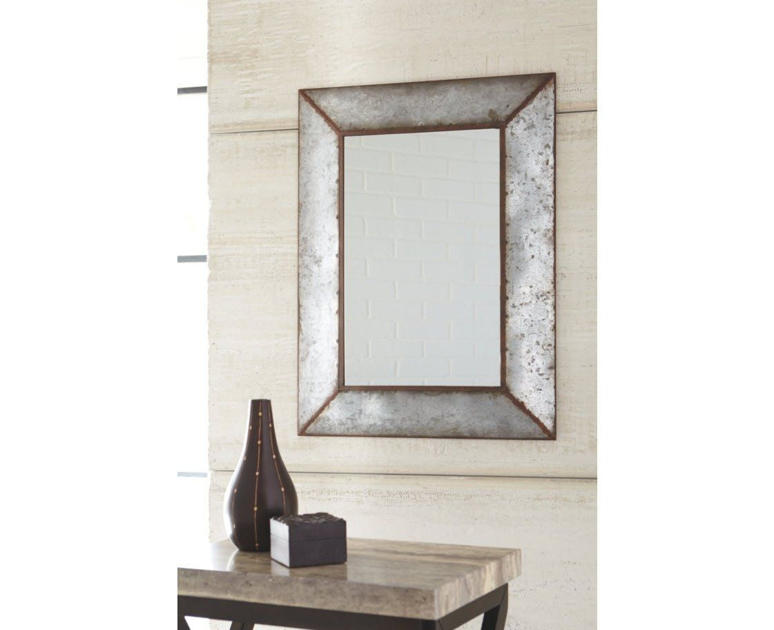 Ashley Furniture Signature Design Otalley Metal Framed Throughout Bartolo Accent Mirrors (Image 5 of 20)