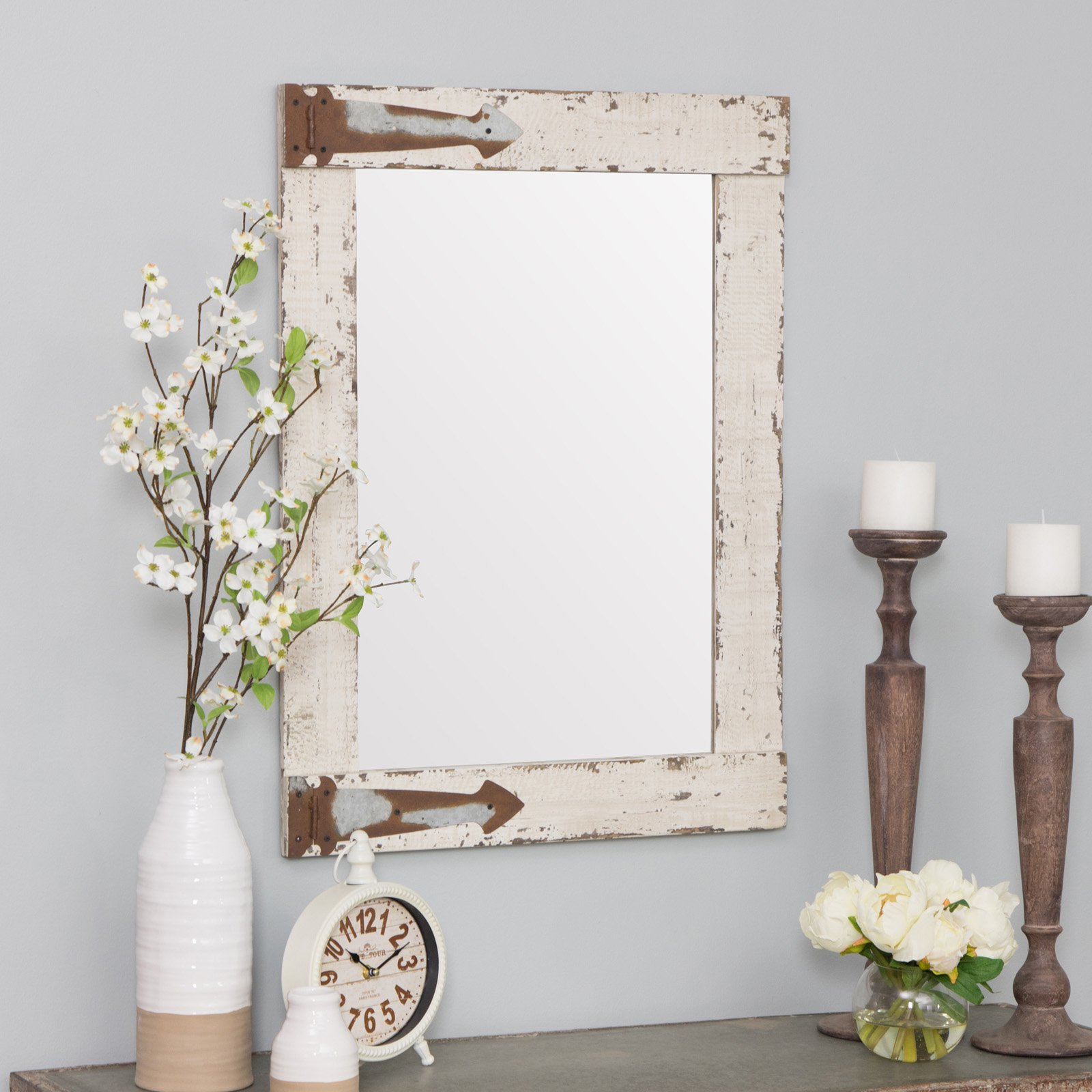 Aspire Home Accents Serenad Farmhouse Wall Mirror – 22W X With Abdul Accent Mirrors (View 19 of 20)