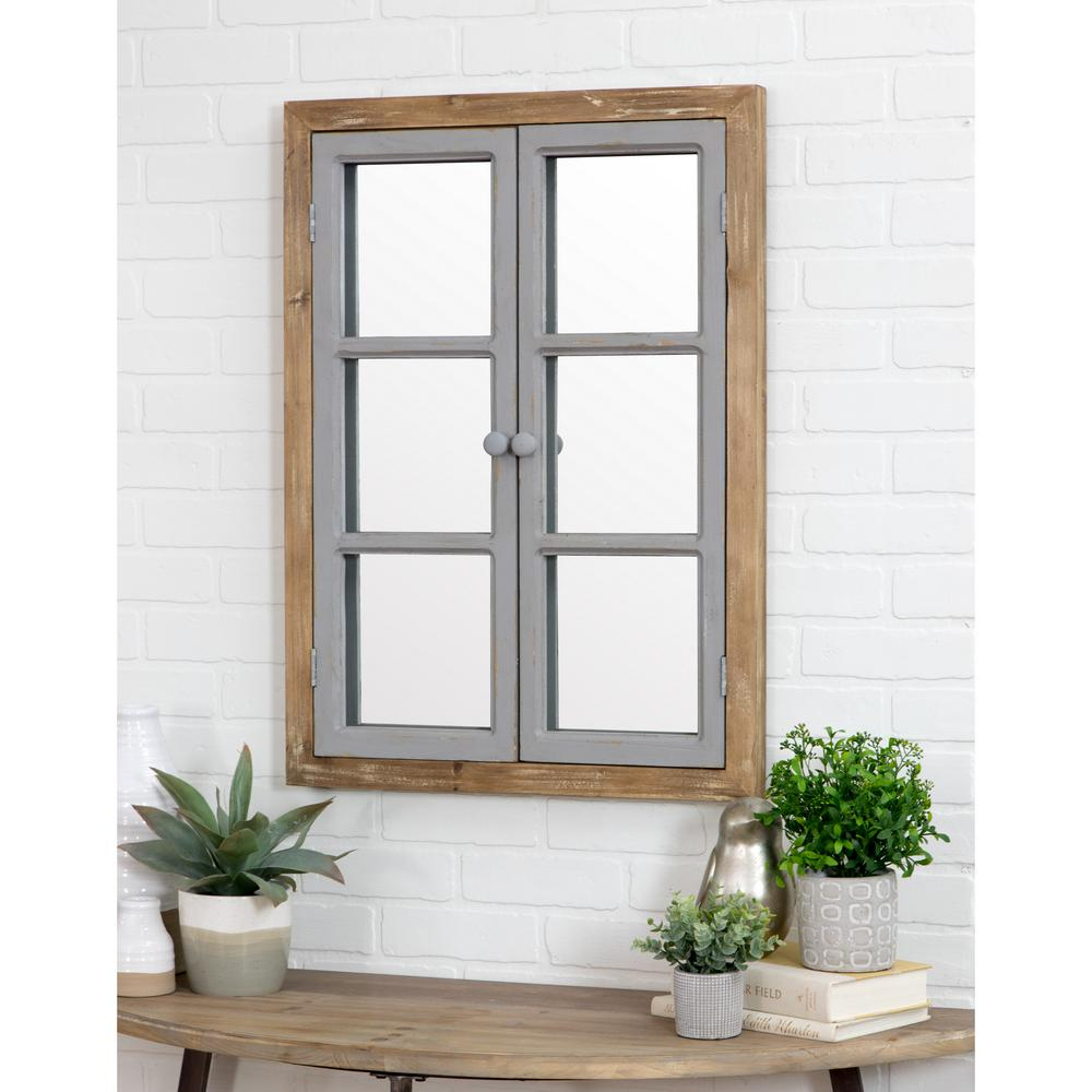 Aspire Home Accents Somerset Window Pane Wall Mirror 5537 Within Arch Vertical Wall Mirrors (Image 7 of 20)