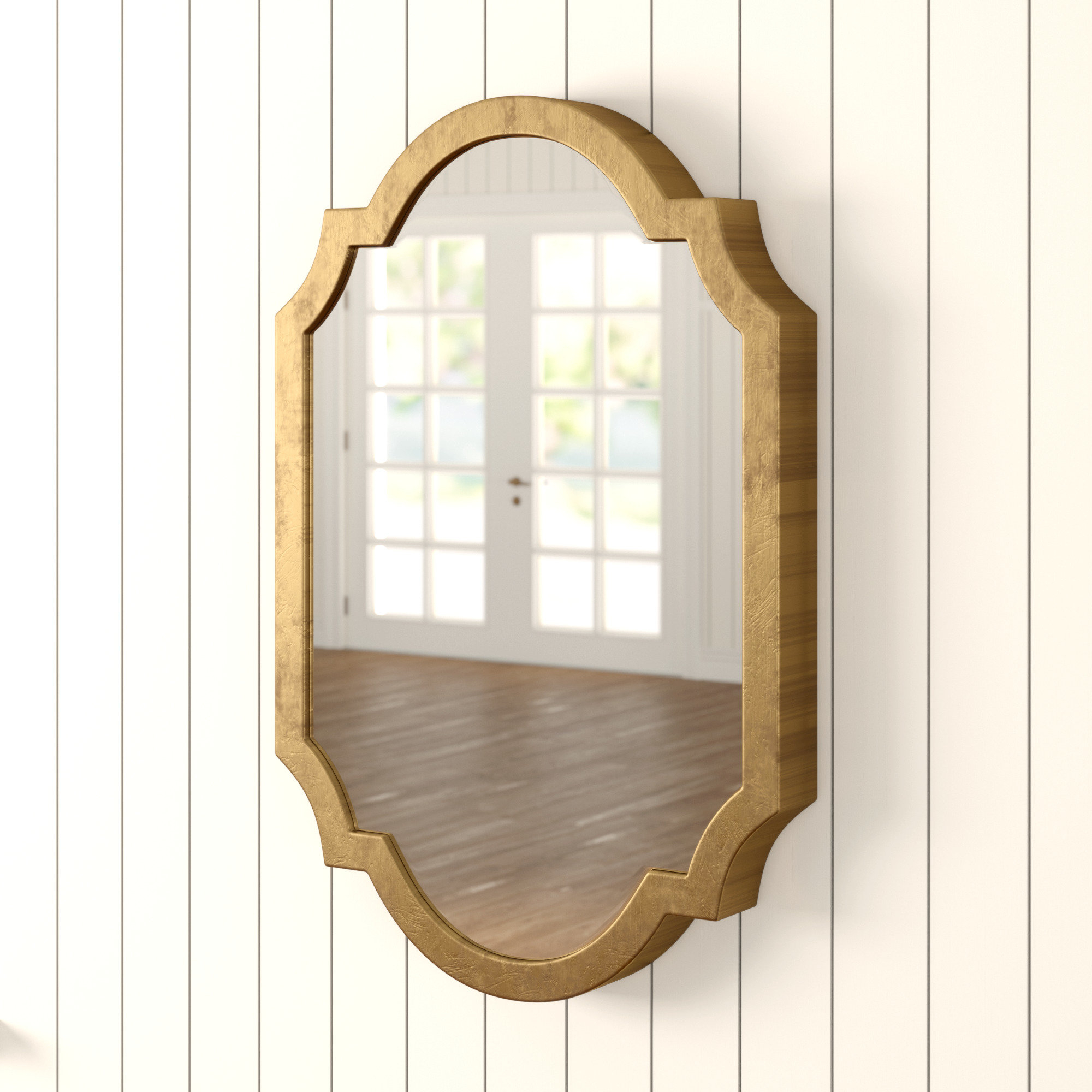 Astrid Modern & Contemporary Accent Mirror In Ekaterina Arch/crowned Top Wall Mirrors (Image 11 of 20)